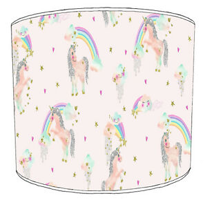 Unicorns Lampshades, Ideal To Match Children`s Unicorns Wall Decals & Stickers