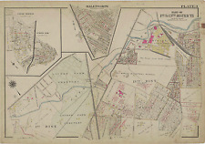 1915 G.W. BROMLEY, HALETHORPE BALTIMORE, MD, LOUDON PARK CEMETERY COPY ATLAS MAP