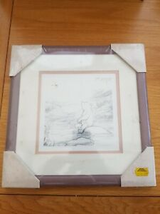 Winnie The Pooh Pencil Drawing. Framed Artwork, Picture, Classic Pooh.