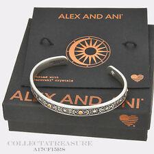 Authentic Alex and Ani Cosmic Balance Cuff Rafaelian Silver Bangle CUFF