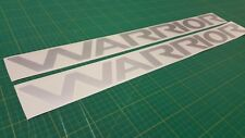 Mitsubishi L200 Warrior Triton restoration side decals stickers original size