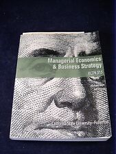 MANAGERIAL ECONOMICS & BUSINESS STRATEGY ECON 315