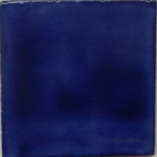 25 Mexican Talavera tiles 4x4 Plain Color Folk Art Washed Blue