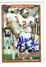 Steve Christie Autograph On A 1991 Topps - Tampa Bay Buccaneers