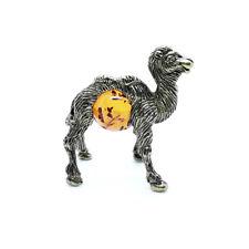 Camel  brass bronze figurine statuette miniature Baltic Amber IronWork #170