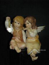 Goebel Randfigur, zwei Engel mit Kristallherz, Herz aus Kristall, 41-314