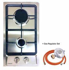 Domino-S 30cm Built-in Gas hob 2 burner Cooktop Stainless steel LPG FFD NEW