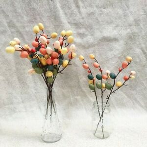 UK Easter Egg Tree Decor  Branch With Painting Eggs Spring Party Supplie