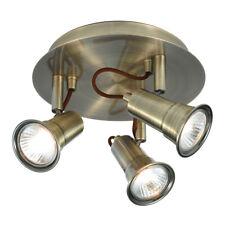 Searchlight Eros 3 Light Antique Brass Traditional Halogen Ceiling Spotlight New
