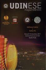 Programm UEFA EL 2011/12 Udinese Calcio - Celtic FC