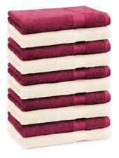 Betz 10 Gästehandtücher Gästetuch Handtücher PREMIUM 30x50cm beige / dunkelrot