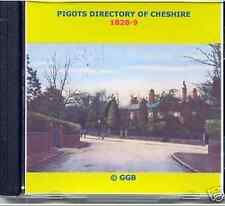 GENEALOGY DIRECTORY OF CHESHIRE 1828-9 CD ROM