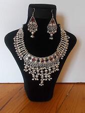 Parure, Collier Tribal et Boucles d'oreille ,  Artisanat Inde,  Kutch Gujarat 20