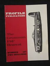 Profile Publications #107 The Grumman F8F Bearcat, Color Profiles, BW Photos
