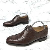 Barker Womens Shoes Brogues Leather Flats Size 3 EU 35.5 Brown MADE IN ENGLAND