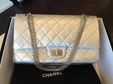 CHANEL Pre-owned Mat Silver 2.55 Reissue Flap Jumbo 227 Size