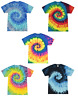 Tie Dye T-Shirts Kids & Adult Sizes Unisex 100% Cotton Colortone-Gildan