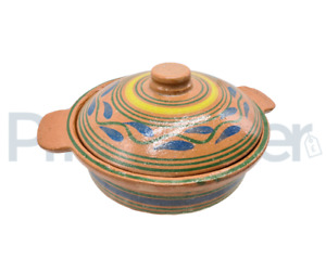 Clay Cooking Pot Handi Biryani Chicken Open Fire Gas Top 2l and 5 Lt With Lid