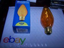 Lot of 11 Bulbrite 40F15A 40W Fiesta Style Chandelier Bulb, Medium Base, Amber