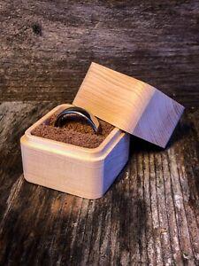 Ring Box/Schatulle aus tiroler Zirbenholz Schachtel Zirbe, Arve Kästchen Etui