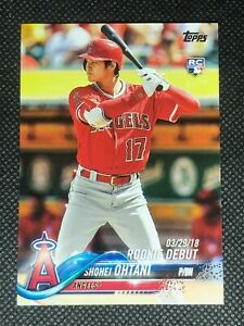 Shohei Ohtani 2018 Topps Update Rookie Debut RC #US285 Los Angeles Angels A
