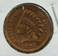1901 Indian Head Cent Penny Coin XF EF Extra Fine Quest Color