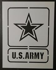 "US U.S. United States Army Square 8.5"" x 11"" Custom Stencil FAST FREE SHIPPING"