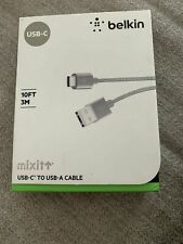Belkin Mixit USB-C to USB-A Cable 10 FT for LG G7 V40 Pixel 3 Galaxy S10 Note10