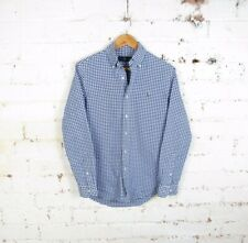 Polo Ralph Lauren Long Sleeve Oxford Shirt  Blue/White Check Men Small RRP £95