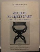 Catalogue Di Vendita 1979 Drouot Rive Gauche Sala N°13 Mobili E Oggetti D'Art