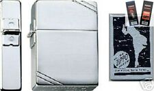 Zippo 1935 replica chrome Lighter with *FLINT & WICK GIFT SET*