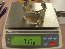 Vintage Sterling Silver Native American Hand Made Jasper Cuff Bracelet 71.7 G