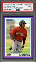 2010 bowman chrome prospect purple ref #bc165 J.D. MARTINEZ rookie (POP 3) PSA 9