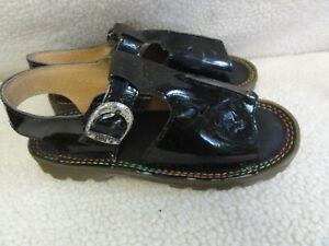 Dr.Martens  Black Patent Leather Sandals Size US Girls Junior 3 UK 2