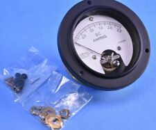 "Jewell Panel Mount 0A to 2.5A Military Ammeter 3.5"" OD w/ Zero Adjuster 908-41"