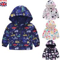 UK Infant Toddler Kids Baby Girls Boys Cartoon Hooded Coat Casual Jacket Tops KK