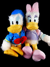 """Disney Parks plush Donald and Daisy Duck 10"""" Mickey Mouse friends Shaggy plush"""