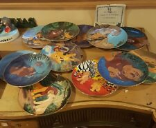Lion King Collector Plate set of 12 COMPLETE  Disney Bradford Exchange w/ COA