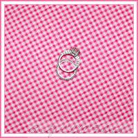 BonEful Fabric FQ Cotton Pink White Sm Seersucker Check Baby Gingham Check Block