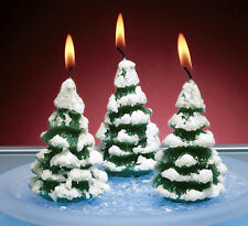 Glitter Christmas Tree Candles 381517