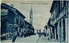 1929 Cingia De' Botti - Viale Giuseppina, abitanti, carro Cremona FP B/N VG ANIM