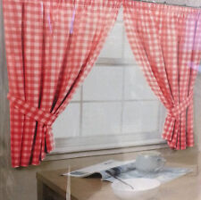 Polyester Gingham Unbranded Curtains & Pelmets