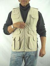 Magnum Safari, Photo Journalist Rip Stop Vest,   Light Beige Men's Small  BK3