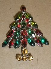 Napier Christmas Tree Brooch 1950s Larger Size Beautiful