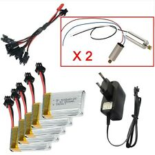 5pc 7.4V 650mAh battery+Charger Line+4x Motor  for JJRC H8C H8D DFD F182 F183 RC