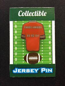"Denver Broncos jersey lapel pin-#1 Collectible-Mile High Legends-""Three Amigos"""
