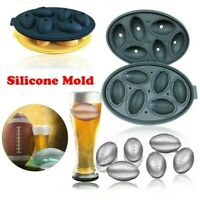 Whiskey 3D Rugby Beer Cube American Ice Ball Silicone Ice lattice Silicone Molds