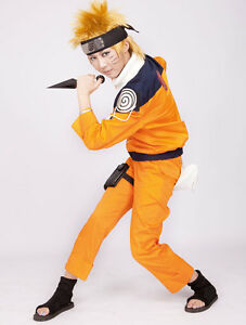 Naruto Uzumaki Japanese Anime Halloween Cosplay manga Costumes men boys Suit