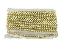 Pearl  bead lace border trim Saree, Dress, Kurti bridal 9 Meter, 1.2cm wide hq