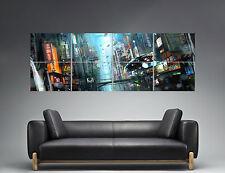 BLADE RUNNER NIGHT STREET CITY Panorama  Poster Grand format 168cm X 59,4CM